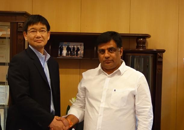 インドラジャスタン州エネルギー大臣と面談