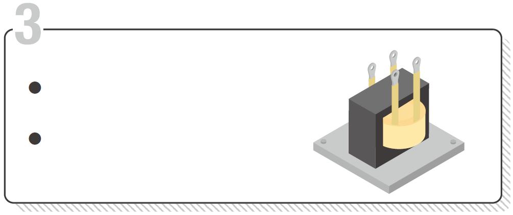 DAB絶縁DCDCを構成する際、任意に決めた巻線比の絶縁型トランスとDC24V電源が必要