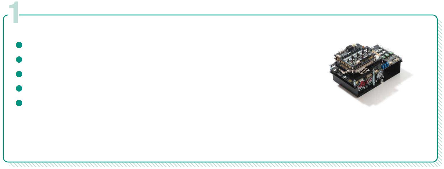 三相交流モータインバータを構成する場合に必要なヘッドスプリング標準製品のリスト:SiC三相インバータ実験キットの写真